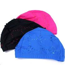 cappello di nuotata nuotata in poliestere per le donne