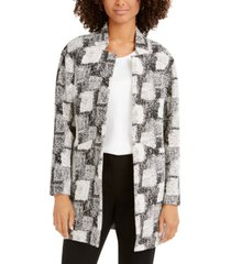 nine west jacquard stand-collar jacket