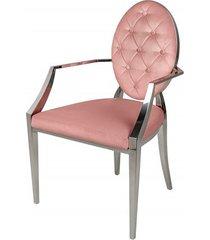 krzesło podłokietniki modern barock róż 92cm