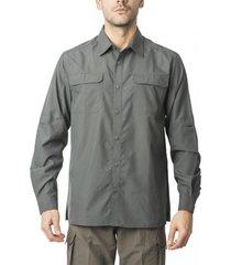 camisa outdoor manga ajustable gris kannú