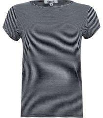 camiseta a rayas color negro, talla m