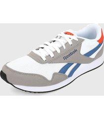 tenis lifestyle blanco-gris-azul reebok royal classic jogger 3.0,