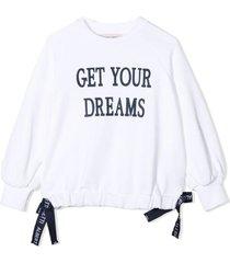 alberta ferretti off-white cotton sweatshirt