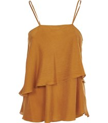 forte forte gold silk top