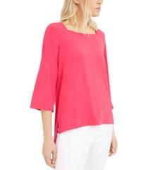 alfani square-neck blouse, created for macy's