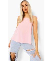 geweven hemdje met vierkante hals, pink