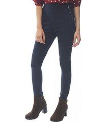 pantalón cierres laterales navy corona