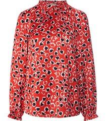 blouse lange mouwen en staande kraag van uta raasch multicolour