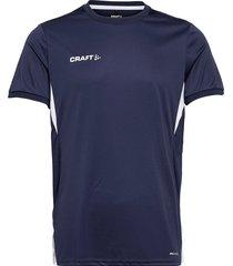 pro control impact ss tee m t-shirts short-sleeved blå craft