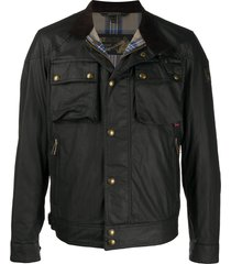 belstaff racemaster multi-pocket jacket - black