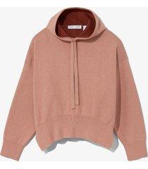proenza schouler white label cashmere blend hoodie rose/burgundy/pink l