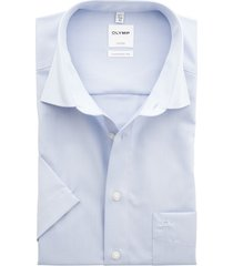 olymp luxor shirt lichtblauw korte mouw strijkvrij