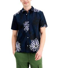 sun + stone men's adrian regular-fit floral-print shirt, created for macy's