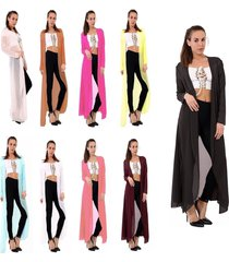 womens ladies chiffon long cardigan kimono waterfall maxi top plus size 8-26