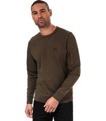 mens patch logo sweatshirt