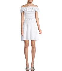 janella off-the-shoulder a-line dress