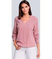 blouse alba moda koraal::wit