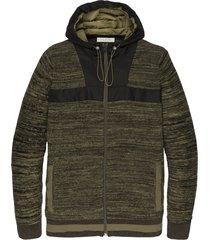 cast iron ckc201350 6213 hooded jacket cotton uneven budding four leaf clover groen