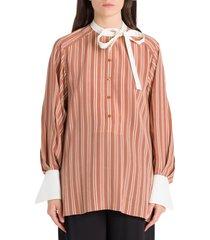 chloé striped blouse