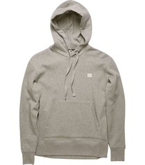 face drawstring hoodie, light grey