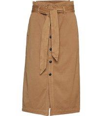 high waisted skirt in drapy quality knälång kjol brun scotch & soda