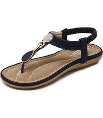 sandali elastici della clip della punta del strass del rhinestone