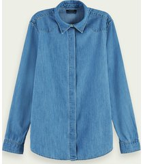 scotch & soda katoenen denim blouse