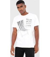 camiseta osklen stone relax branca