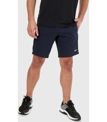pantaloneta azul reebok workout ready