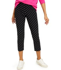charter club petite capri tummy-control skinny pants, created for macy's
