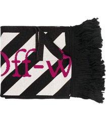 arrows scarf black