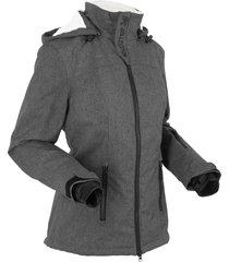 giacca tecnica outdoor con pile effetto peluche (grigio) - bpc bonprix collection
