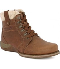 botin cuero casual nettie café cat