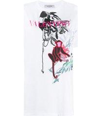 valentino cheeky monkey print t-shirt - white