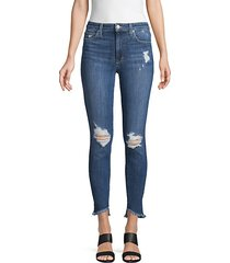 michelle high-rise distressed skinny jeans