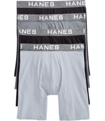 hanes men's 4-pk. platinum comfort flex fit boxer briefs