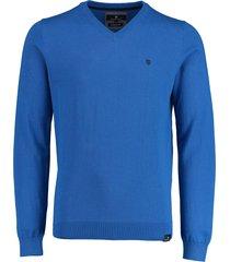 basefield pullover cobaltblauw v-hals 219014947/620