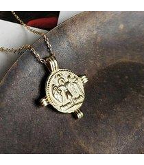naszyjnik na szczęście z monetą