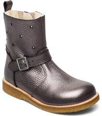 boots - flat - with zipper känga stövel rosa angulus