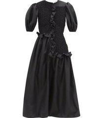camden puff sleeve smock dress