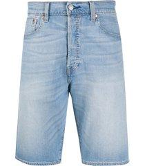 levi's denim bermuda shorts - blue