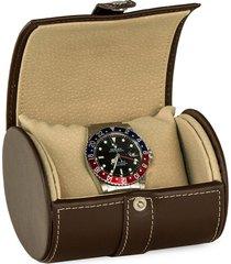 bey-berk men's leather watch case - brown