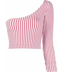 antonella rizza one-shoulder striped top - pink