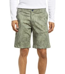 benson print chino shorts, size 40 in khaki palm at nordstrom