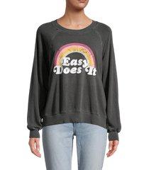 wildfox women's sommers graphic sweatshirt - grey multi - size xs