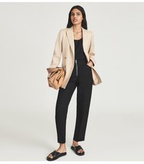 reiss brie - cotton jersey vest top in black, womens, size xl