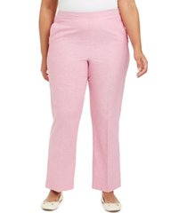 alfred dunner plus size garden party proportioned pull-on pants