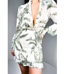 akira relax all day long sleeve mini dress