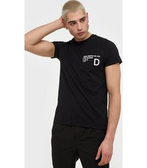 diesel t-hover t-shirt t-shirts & linnen black