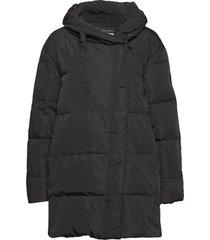 leona down jacket gevoerd jack zwart mos mosh